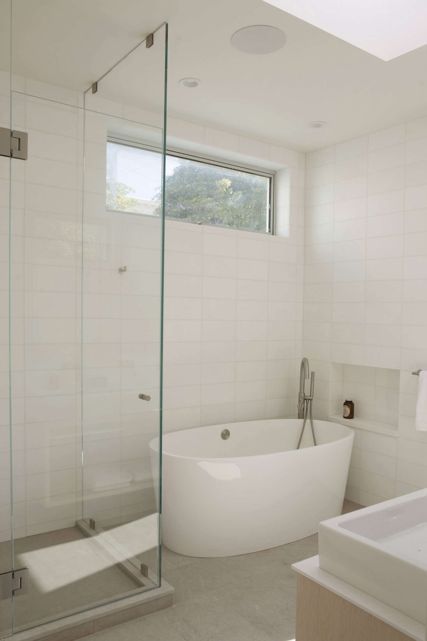 On the market the historic filbert cottages in san franciscos each master bath has radiant underfloor heating with white ceramic tile from ann sacks dailygadgetfo Images