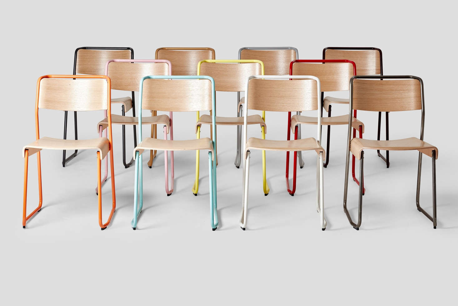 The Very Good U0026 Proper Canteen Utility Chair Comes In Four Wood Finishes  With 11 Color