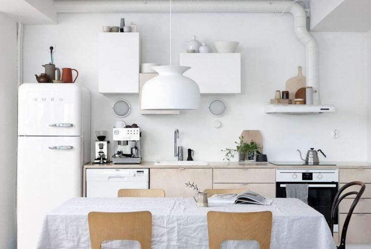 A Simple White Smeg In The Helsinki Kitchen Of Finnish Interiors And Prop  Stylist Anna Pirkola