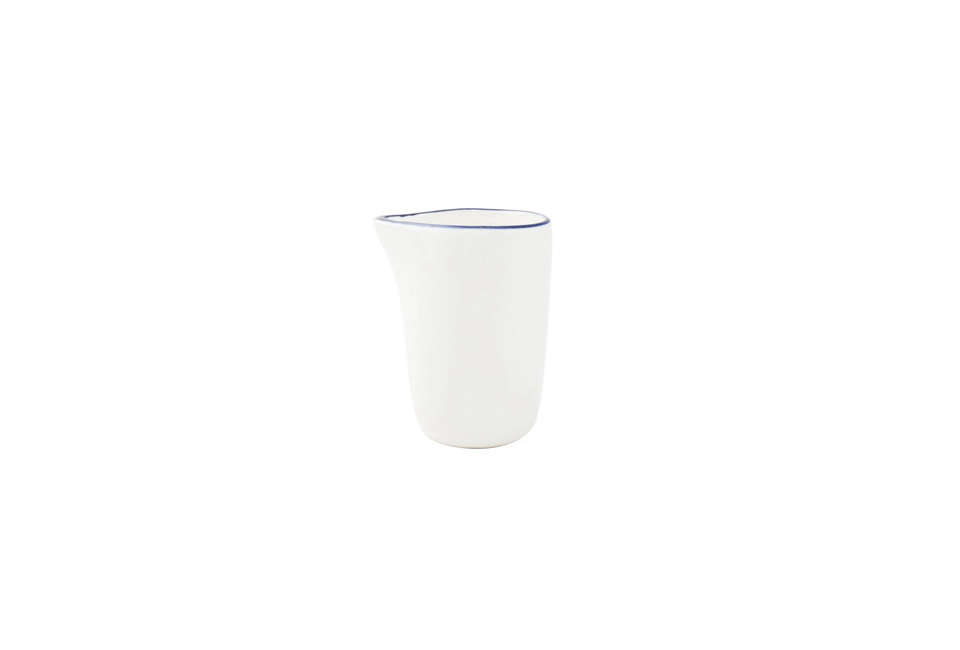 The Canvas Home Abbesses Creamer with a Blue Rim is $8.