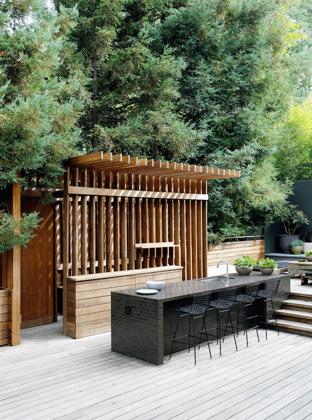 LA Design Collective Commune Created This Pergola Like Outdoor Kitchen In A  Remodel Of A
