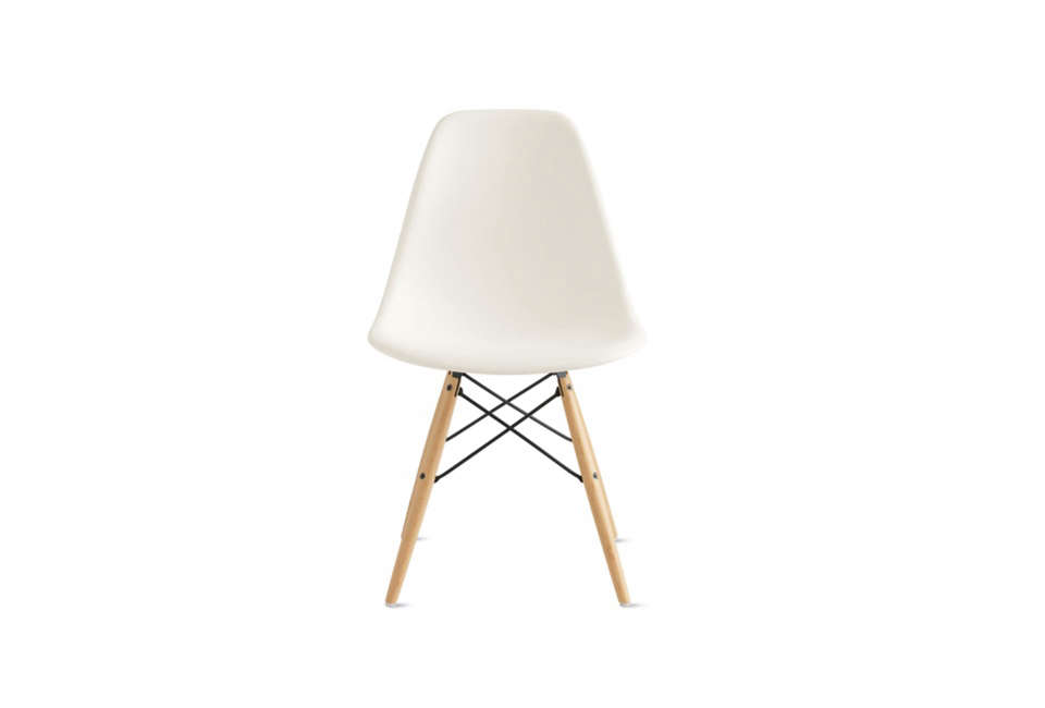 The Eames Molded Plastic Dowel Leg Side Chair starts at $439 at Design Within Reach.