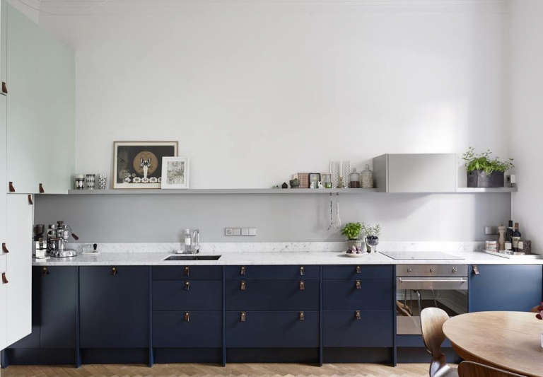 This Past Year It Seems That Every Kitchen Thats Crossed Our Desktops Has One Thing In Common Cabinets Painted A Deep Petrol Blue