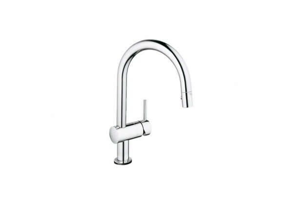 Grohe 31359000 Starlight Chrome Minta Touch Pull Down Kitchen Faucet