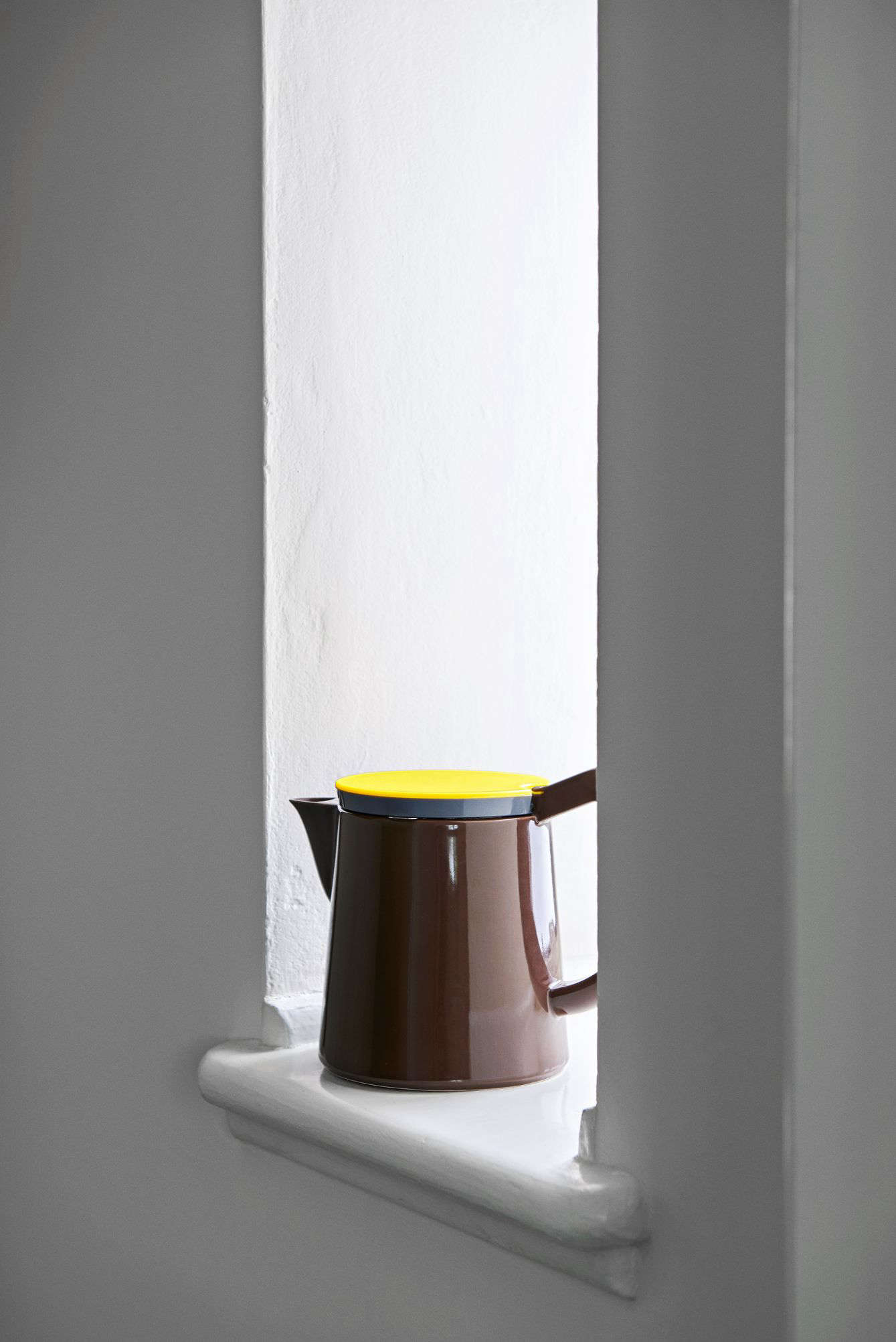 The Hay Teapot In Brown Porcelain Was Designed By George Sowden For Hay;  $69u2013