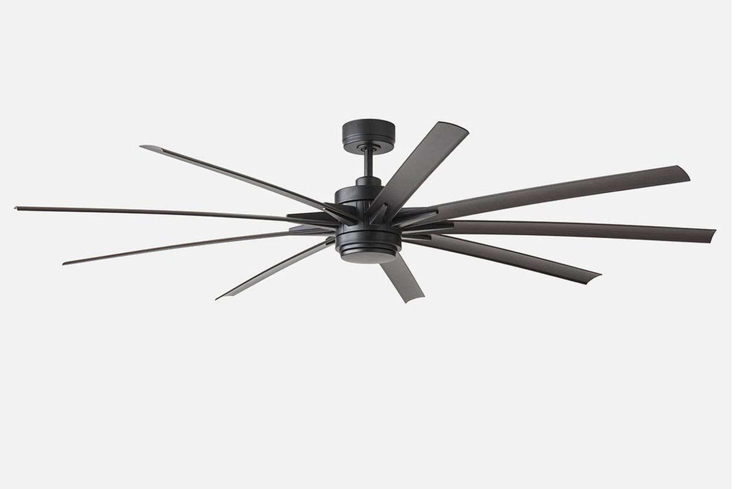 84 inch ceiling fan odyn the odyn 84inch led ceiling fan matte black is 799 at schoolhouse 10 easy pieces fans remodelista