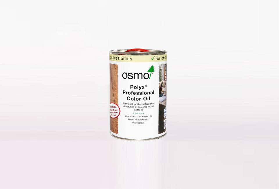 The darker plywood is stained withOsmo Polyx Professional Color Oil in Charcoal 54; $.95 for a 0.src=