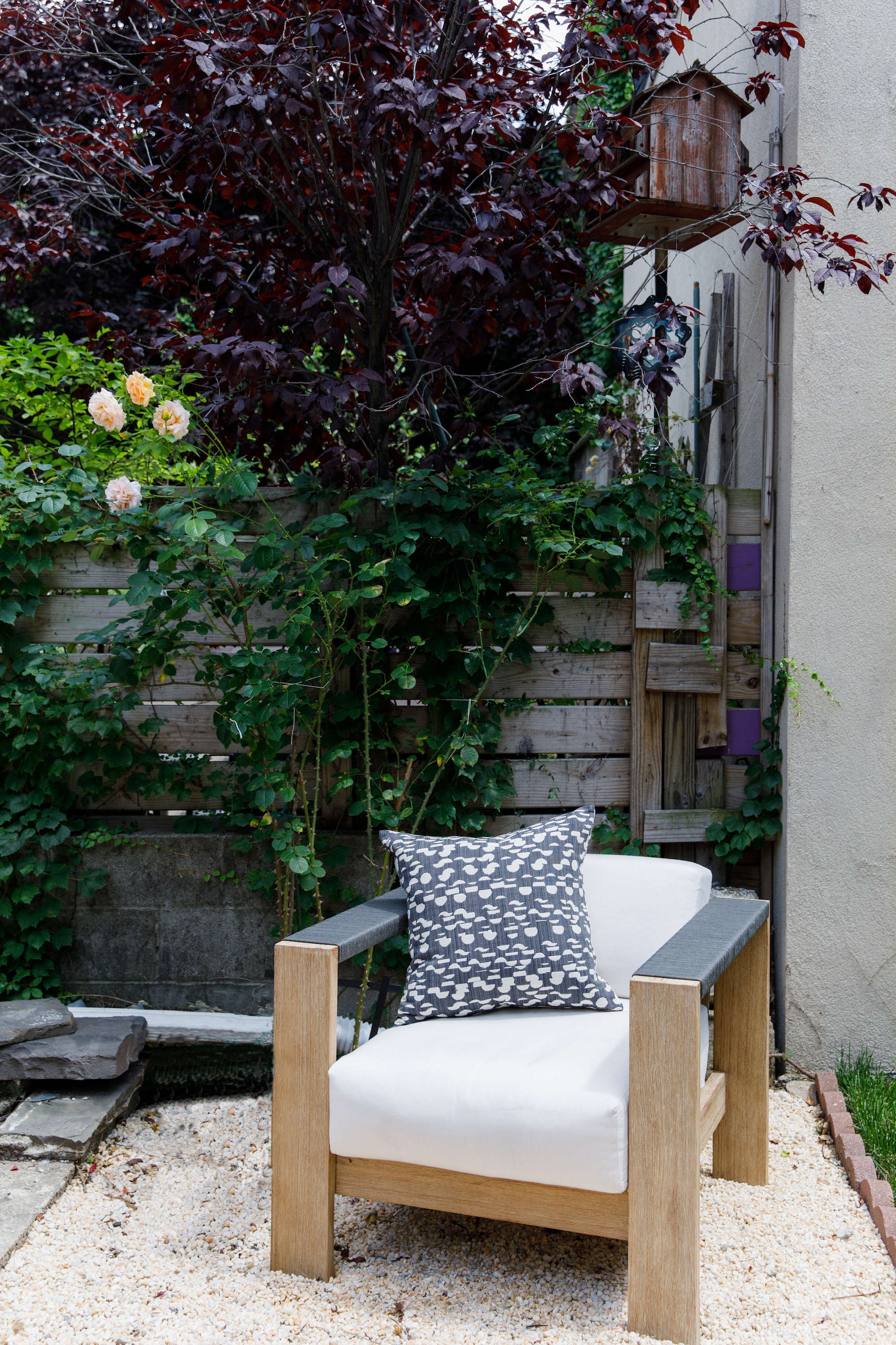 Rebecca Atwood Brooklyn Garden Makeover Gravel Patio Jpg