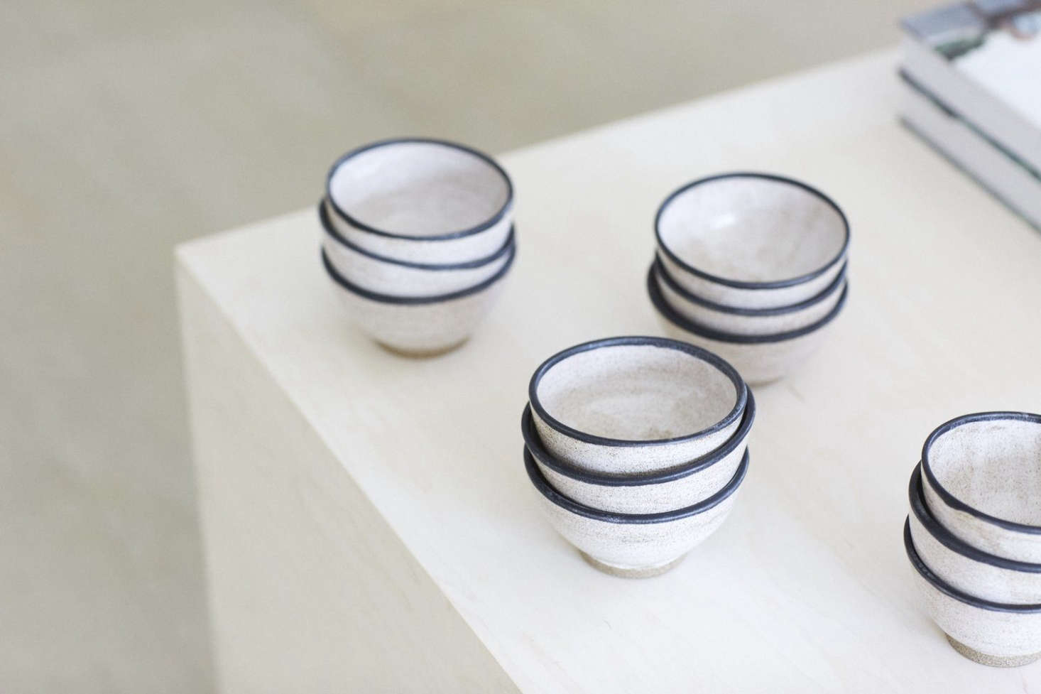 Handmade Enso Rice Bowls by Klaycat Porcelain are $22 each.