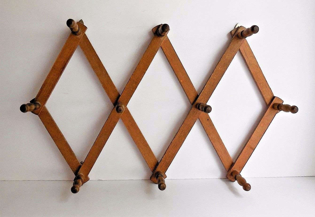 This Vintage 10 Peg Accordion Rack, Approximately 12.5 By 34 Inches When  Fully Open Design Ideas