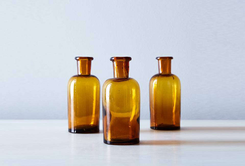 TheVintage French Small Amber Apothecary Jars are $ for a set of three at Food5