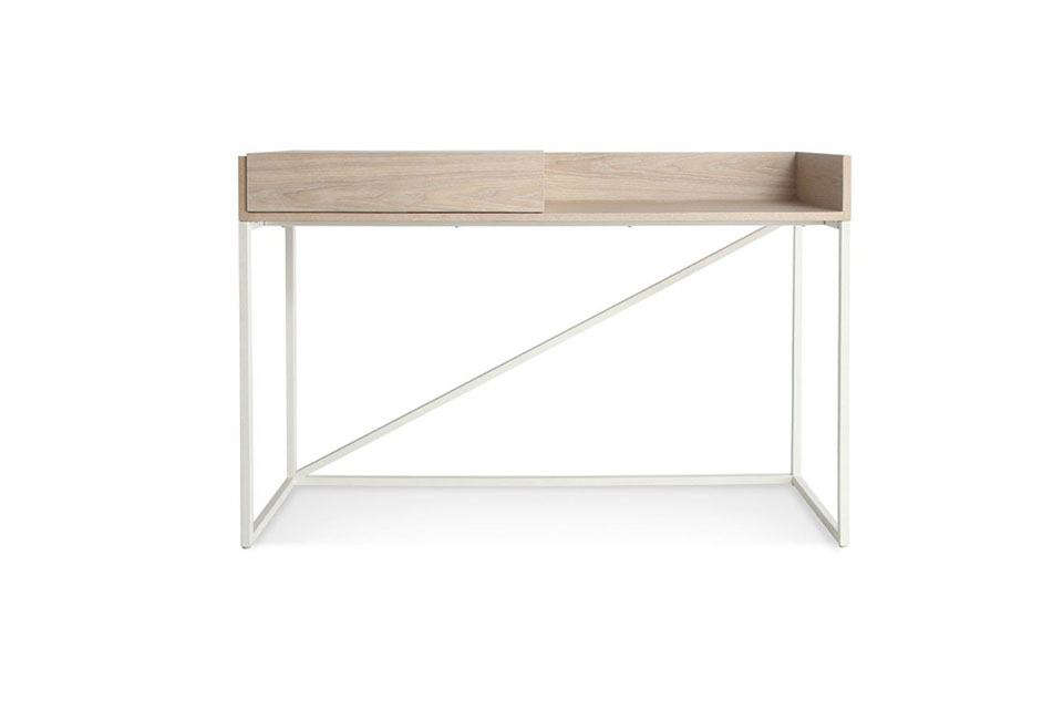 The Swish Console Desk From Minneapolis Based Blu Dot Has A Sliding Compartment To Contain