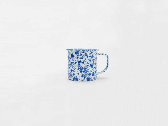 Blue Splatter Enamel Mugs