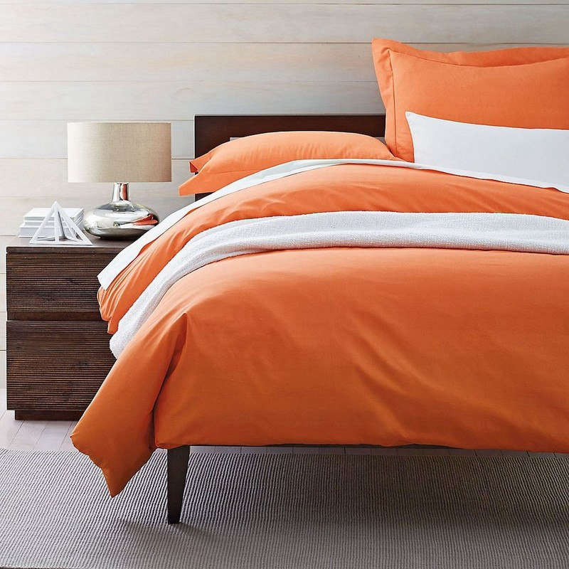 Simple classic percale solid pillowcases Bed Pillows