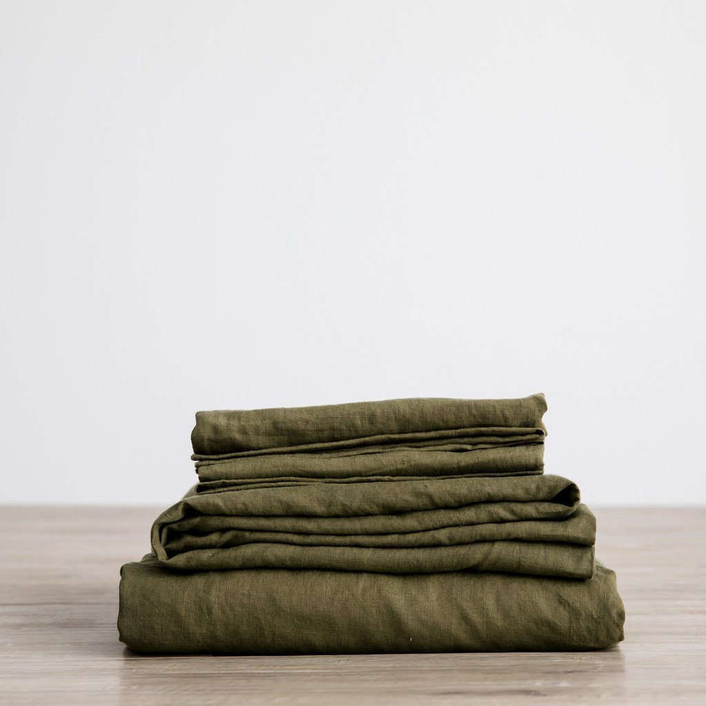 5 Favorites Bed Linens In Shades Of Olive Remodelista