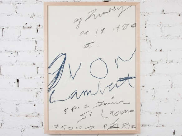 cy twombly exhibition poster