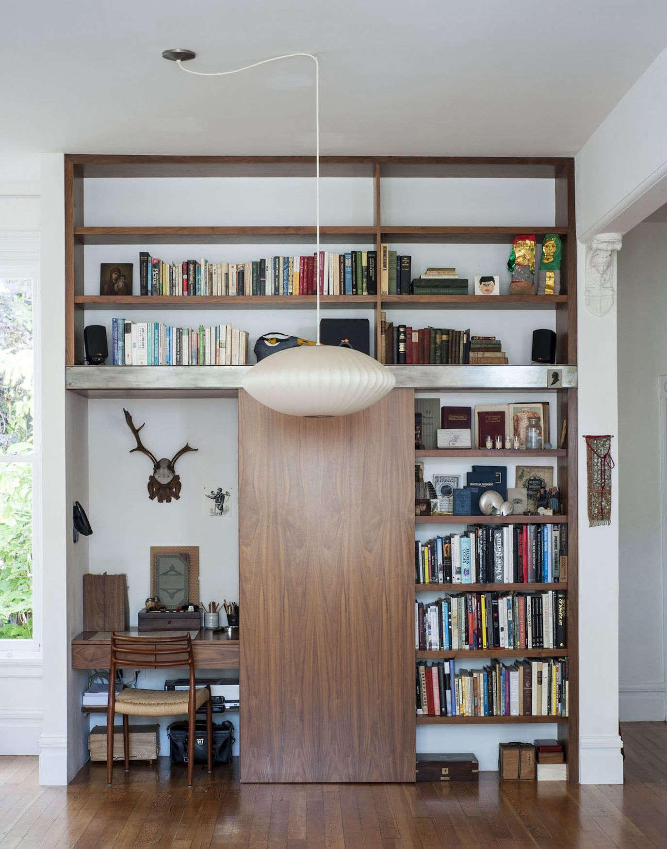 Dagmar Daley's hidden desk. Photograph by Matthew Williams