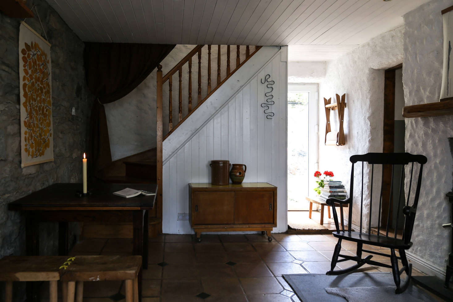 The House Has Two Rooms Downstairs Plus A Galley Kitchen And Bedrooms Upstairs