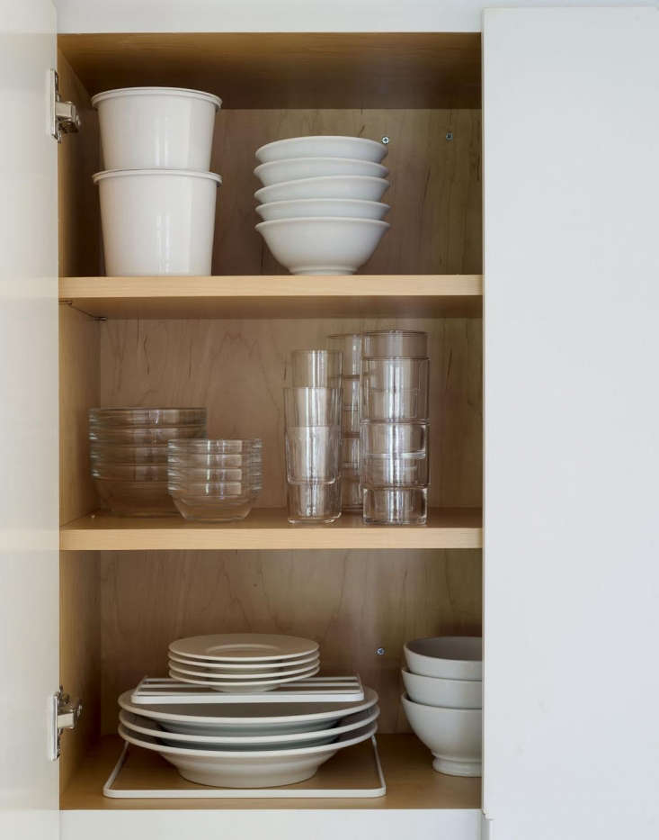 Dishes in Cabinet by Matthew Williams for Remodelista