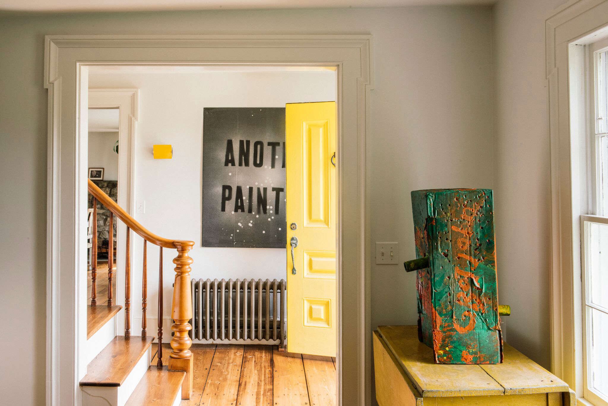 How To Combine A Humble 19th Century Farmhouse And An Edgy Contemporary Art Collection Husband Wife Architects Maria Berman Brad Horn Of