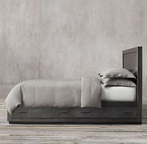 La Salle Metal Wrapped Storage Bed