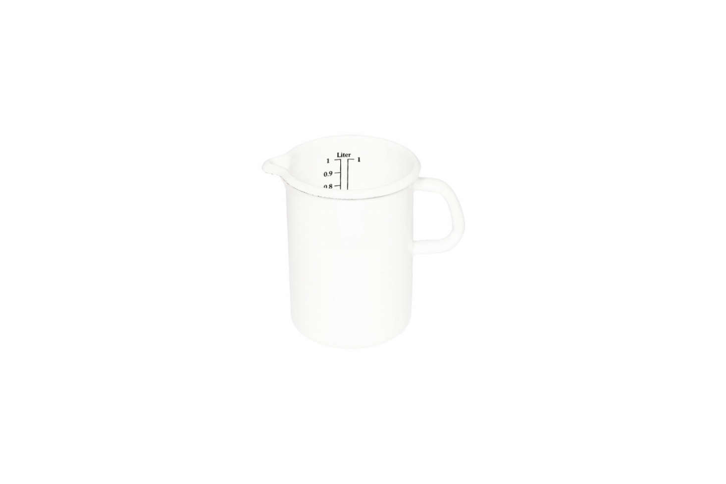 The Riess Enamel Measuring Jug is £ at Manufactum. (See our post on Riess Enamel Accessories at Ancient Industries.)