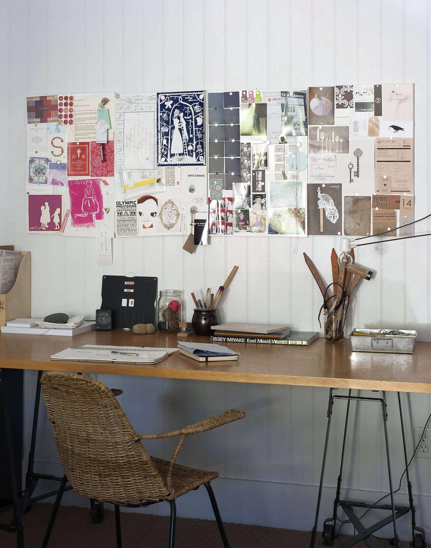 Sarah Lonsdale's Napa Valley desk.