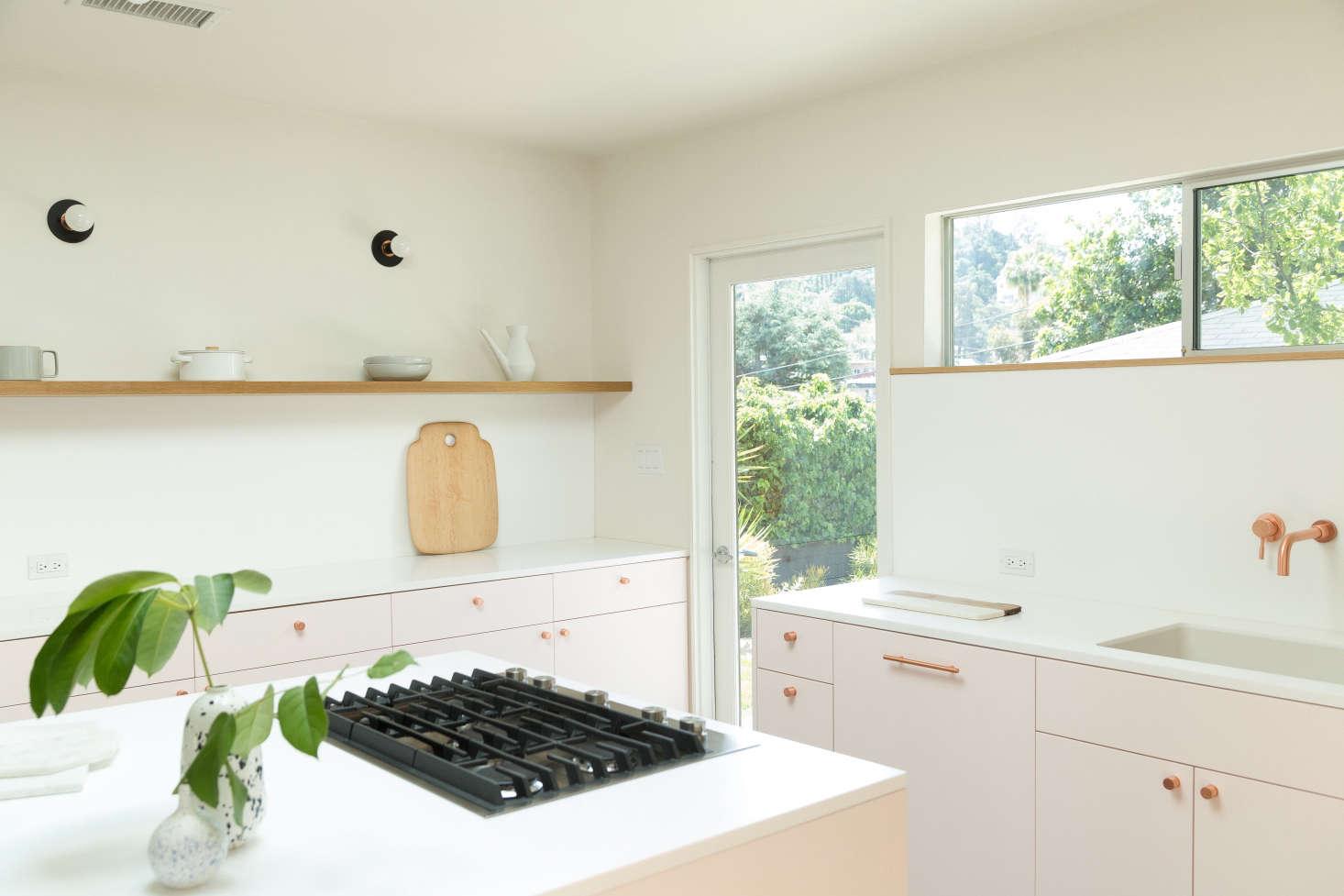 Pale pink kitchen by Studio Ritz Rabin in LA