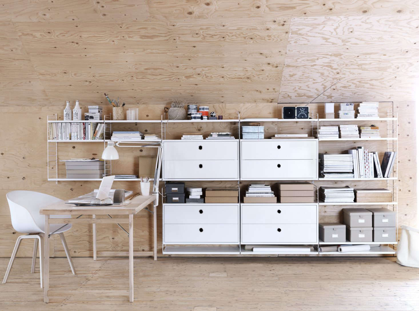 The Clical String Shelf Modular System Was Designed In 1946 By Swedish Architect And Designer Nils