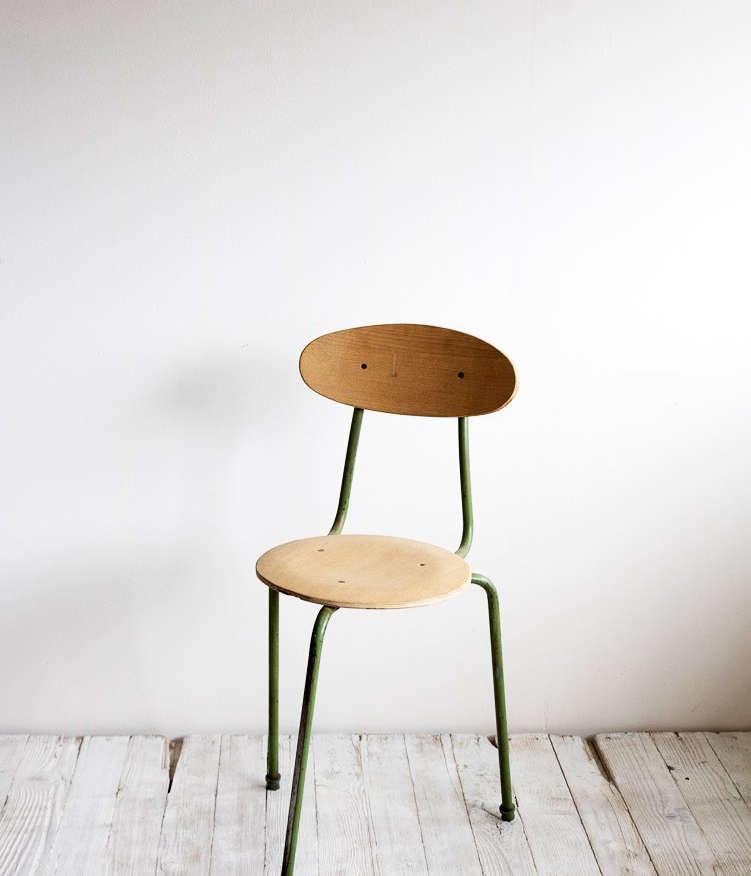 vintage three legged chair