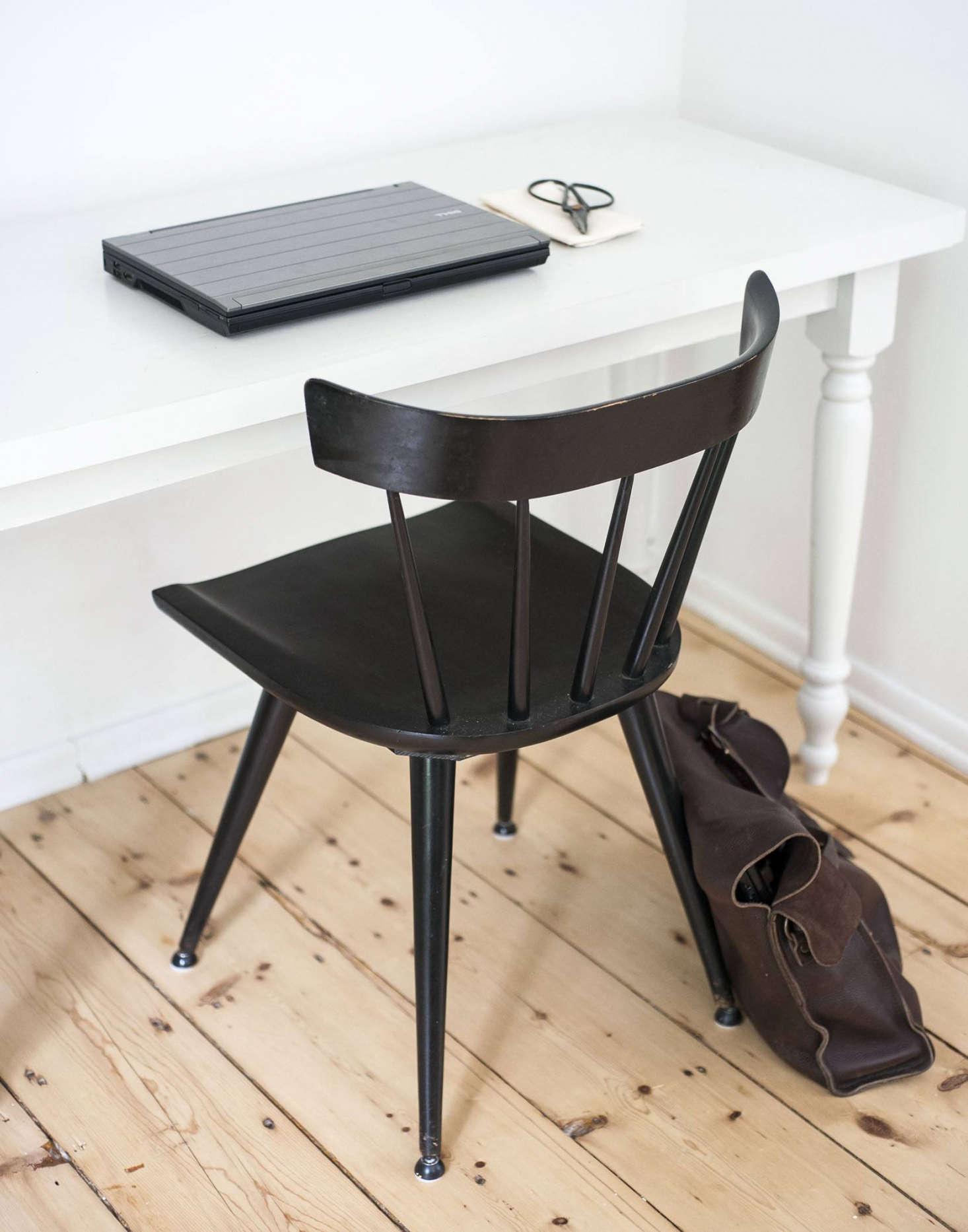 Workstead Partner's desk detail, in Gallatin New York.
