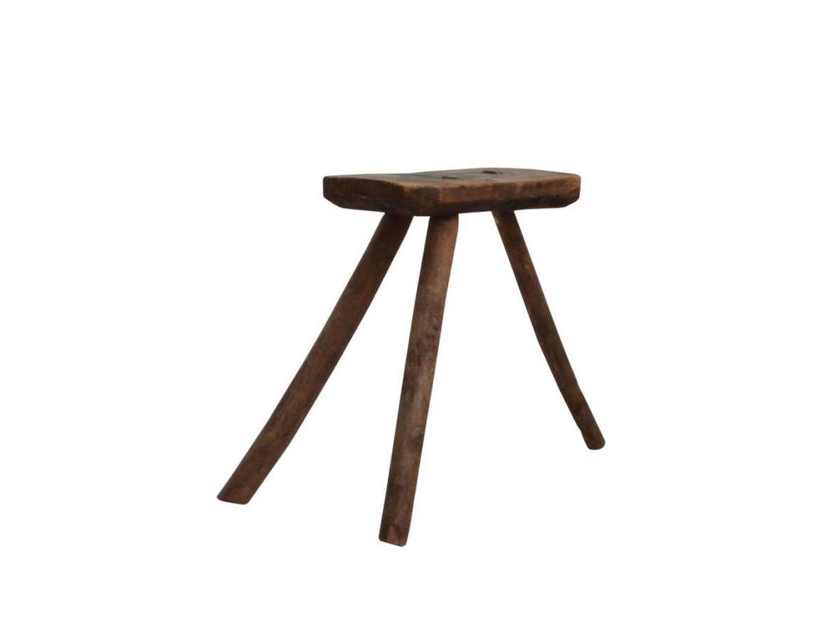 1st dibs vintage wooden milking stool