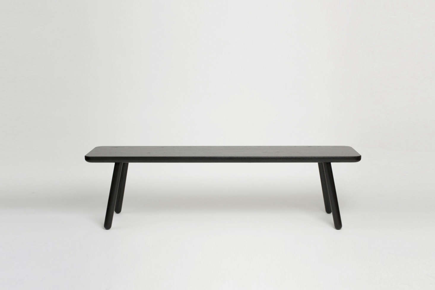 Another Country's Bench One in Black is made of black lacquered solid ash; £495 – £1,150.