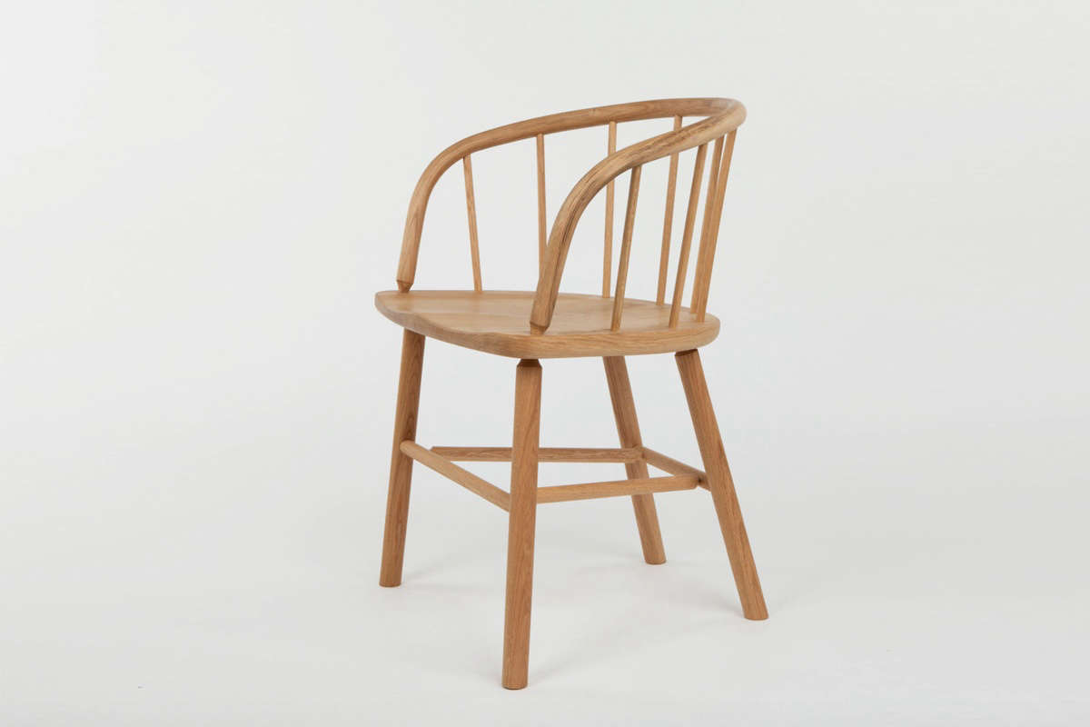 The chairs in the collection are all made in the UK and inspired by &#8