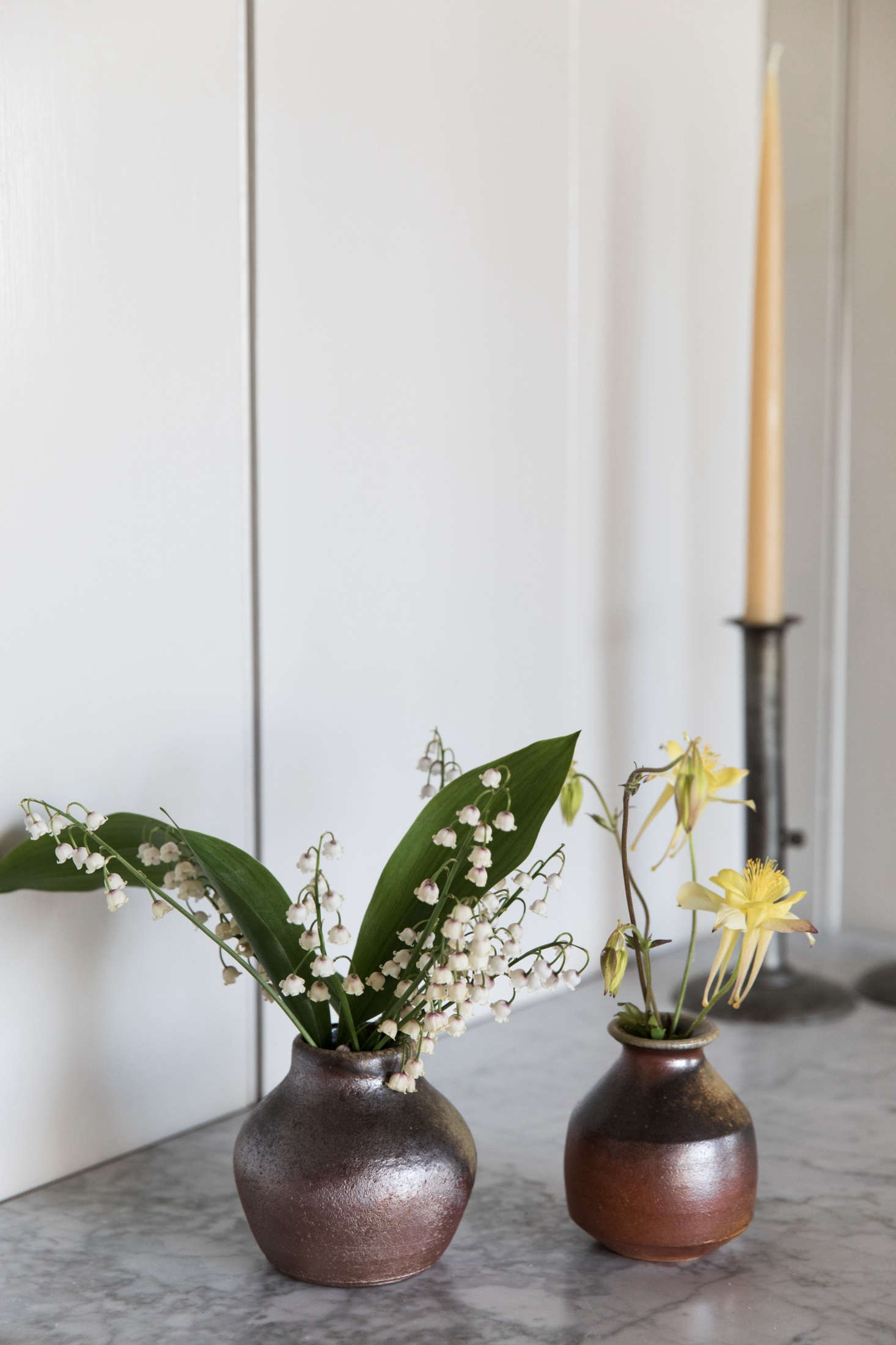 A vignette of locally farmed and foraged flowers byMolly O'Rourke, Esteves&#8