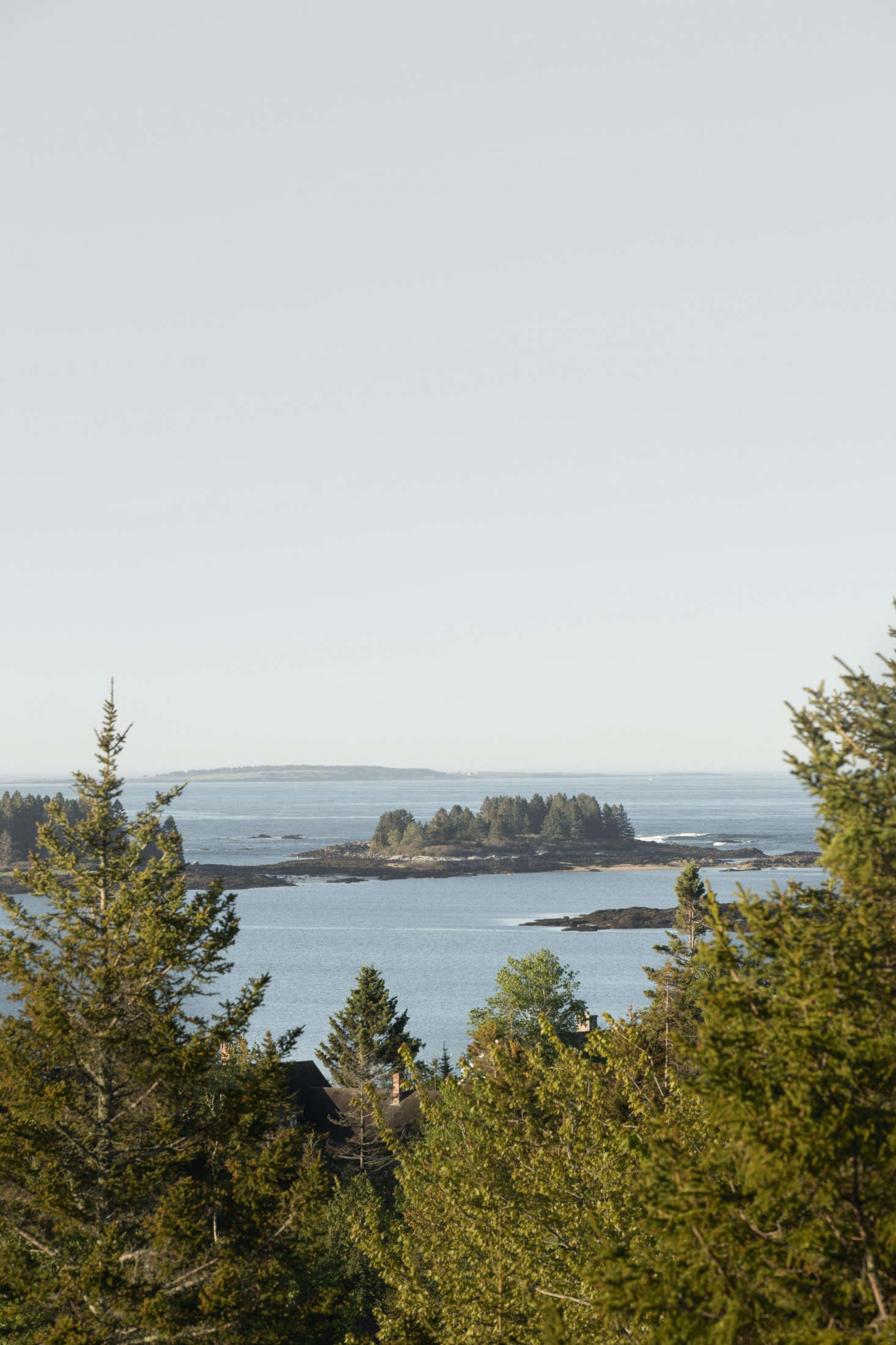 The view of Penobscot Bay.