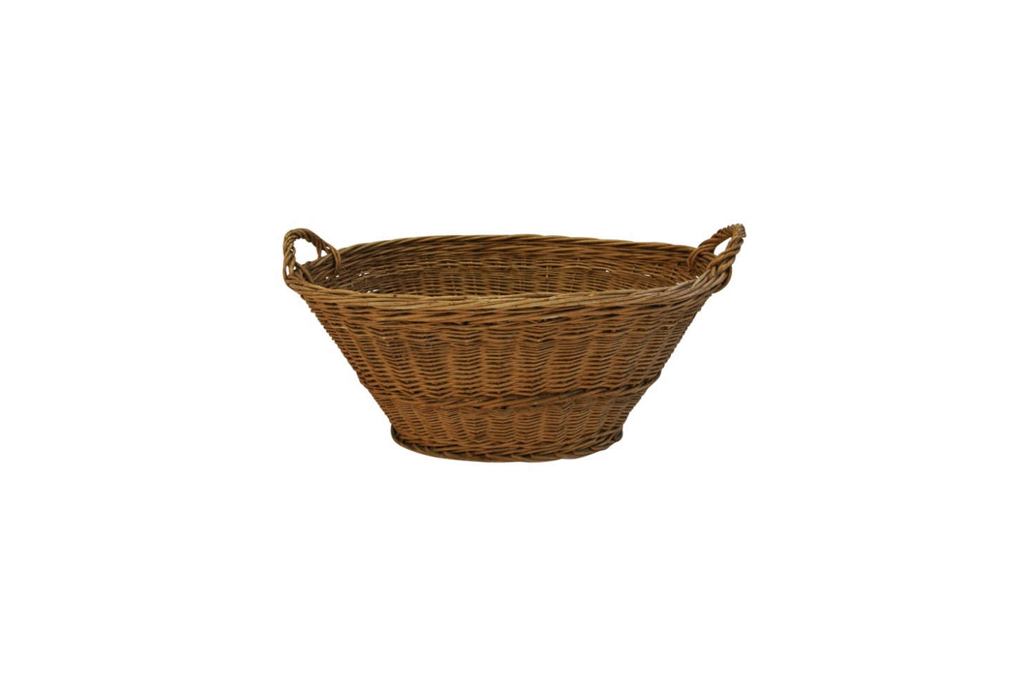 Source anAntique Woven Oval French Market Basket ($135) from Chairish or from Flea Market France, a seller on Etsy.