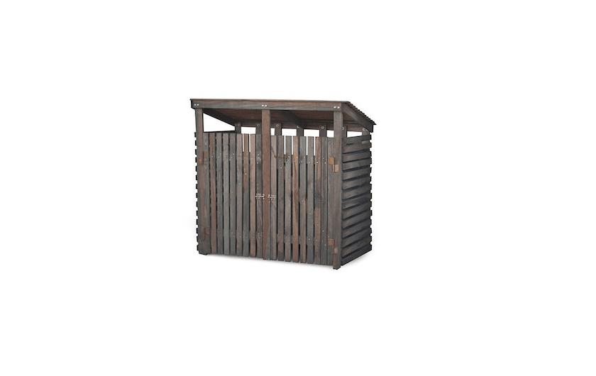 Double Wooden Wheelie Bin Cover Spruce