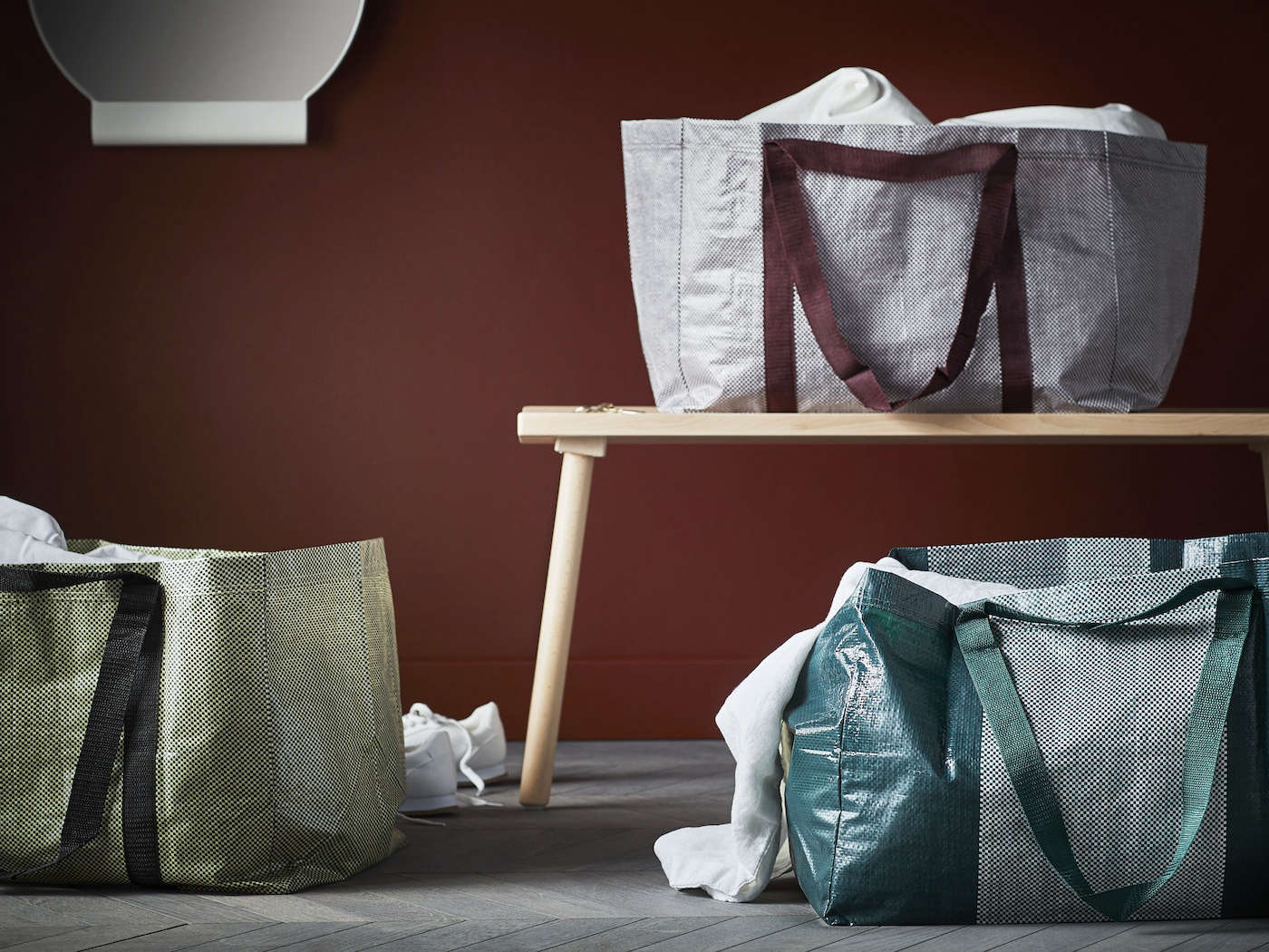 Hayu0027s take on the iconic Ikea blue bag the Ypperlig Shopping Bag is made & New from Ikea: The Ypperlig Collection a Collaboration with Hay ...