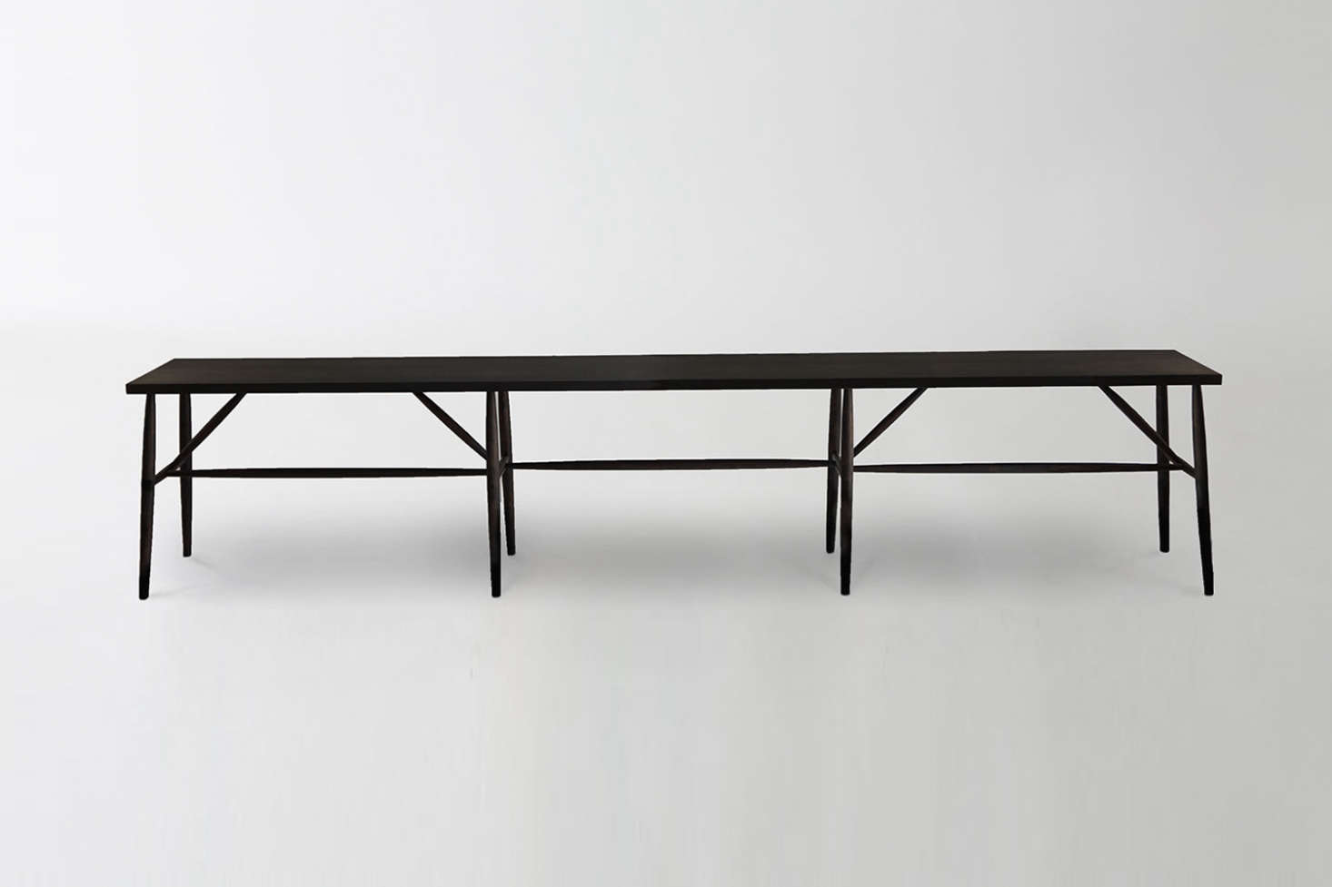 The Sawkille Co. Ebonized Black Walnut Bench is inspired by the heritage and community of the Hudson Valley. The bench is made-to-order and available for $6,100 through March in San Francisco.
