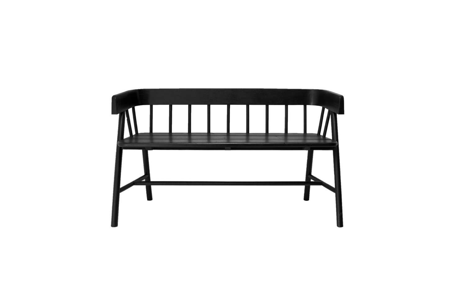 The Rowen & Wren Byron Black Bench is made of black painted teak; £772.