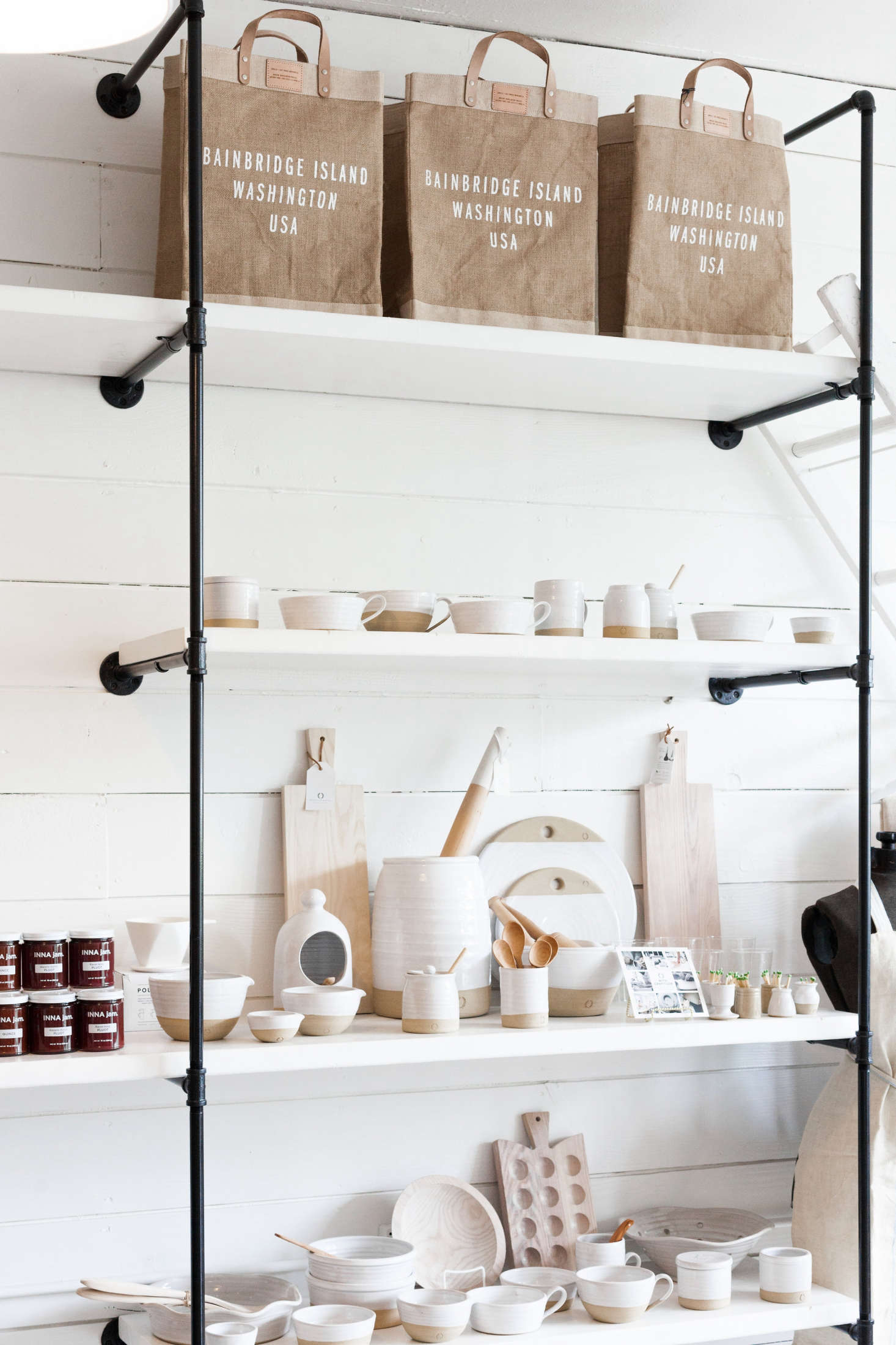 The store offers a wide array of wares from Farmhouse Pottery based in Woodstock, Vermont.