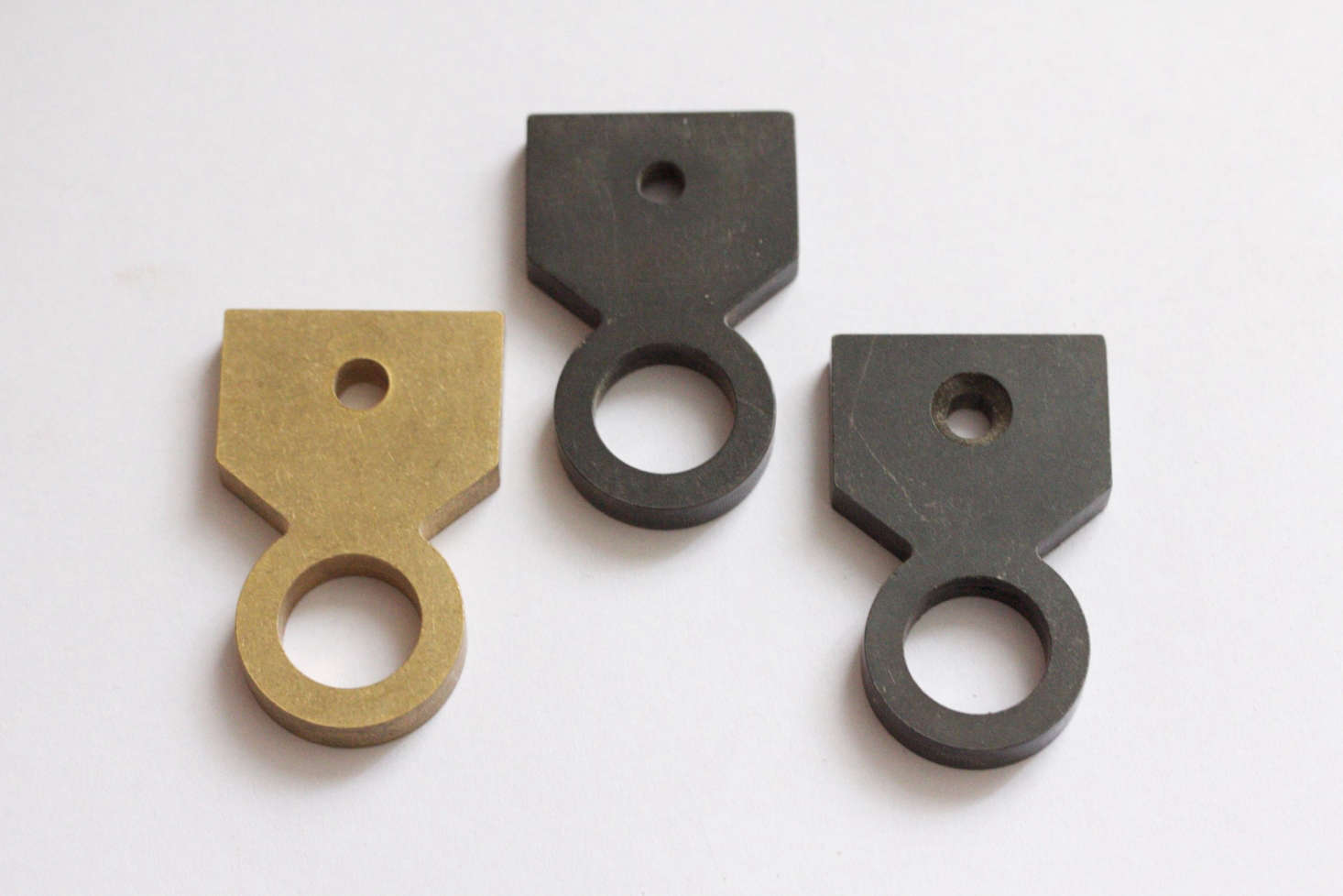 Oval and Trigger: Handmade Blackened and Brass Hardware from ...