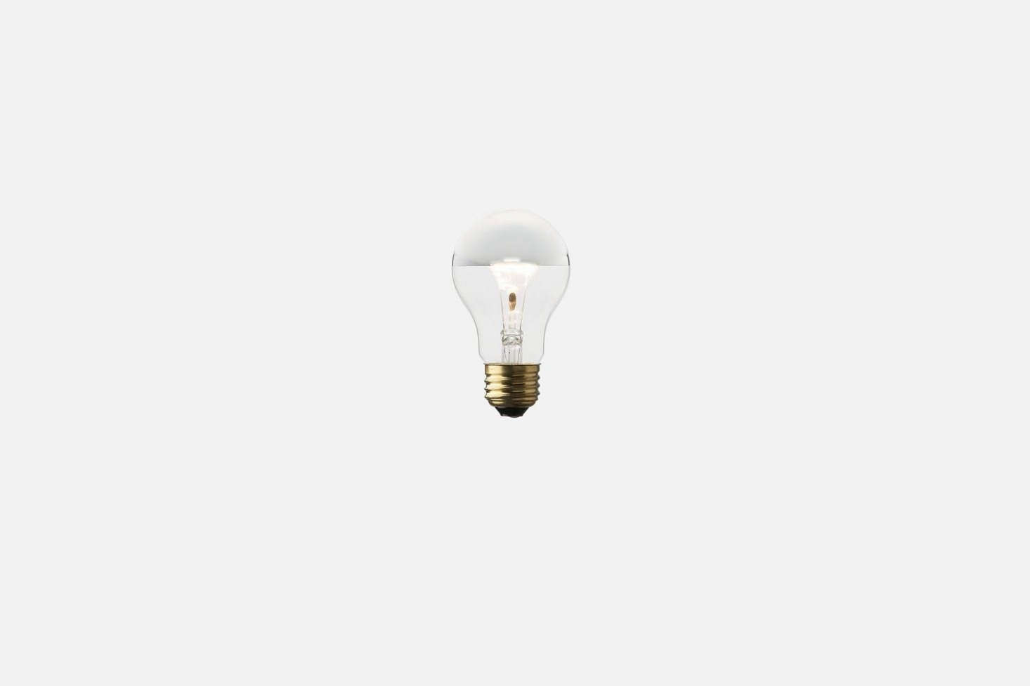 Pairthe light with aSilver-Tipped Bulb for$8 from Schoolhouse Electric.