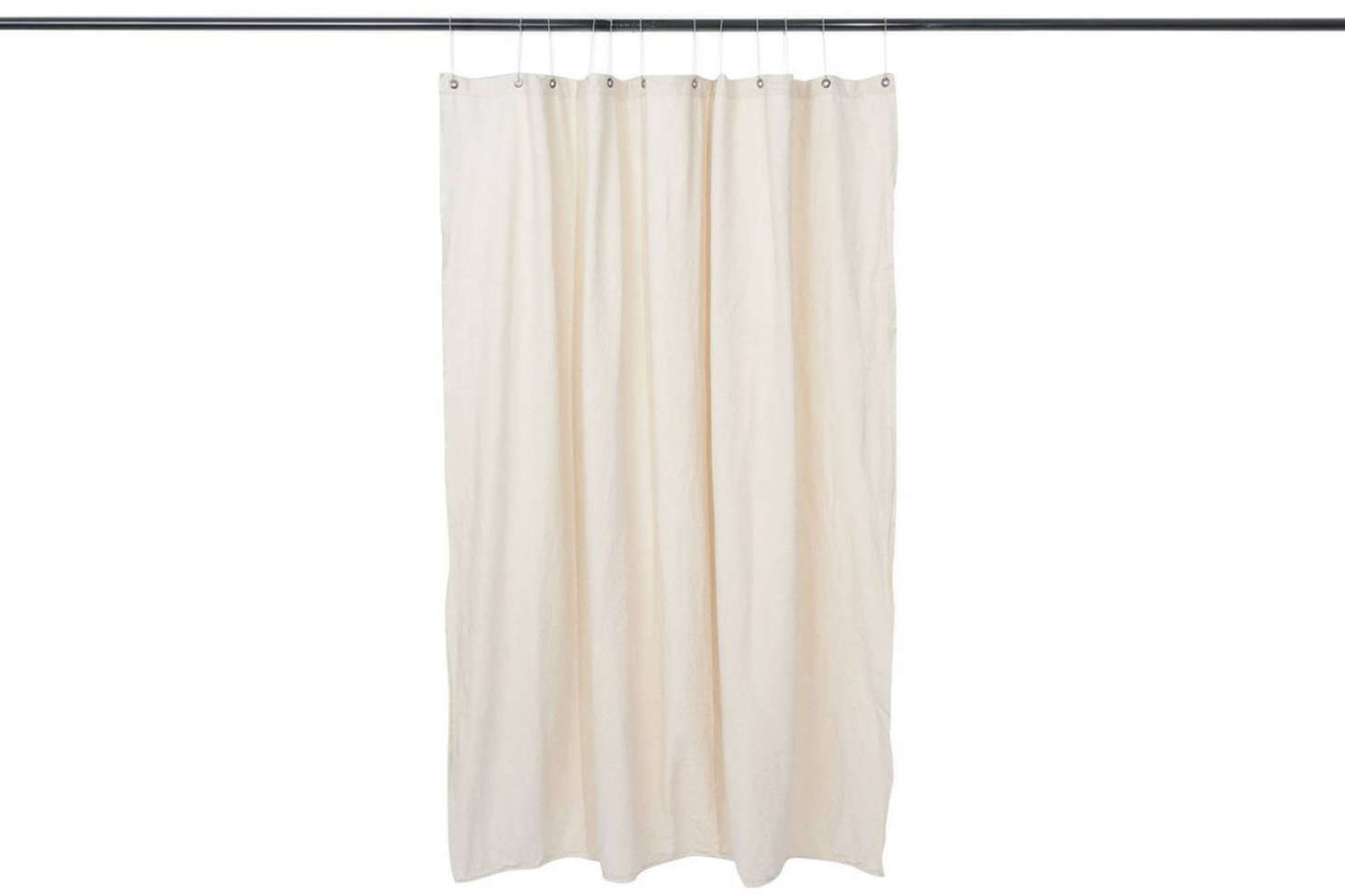 The Utility Canvas Curtain Panel is made with preshrunk canvas and cut in a 68-by-70-inch panel; $106 at Utility Canvas.