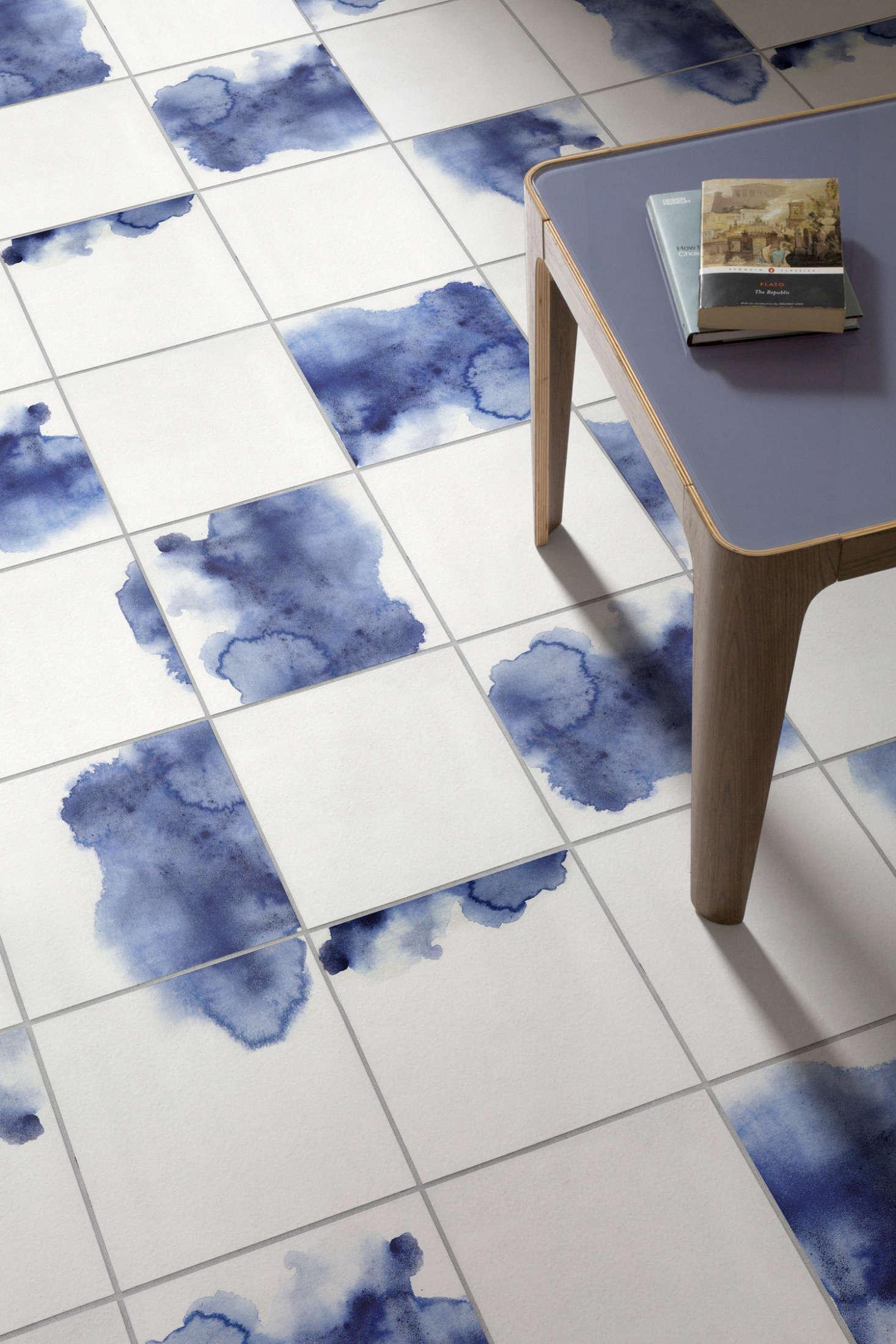 New from Atrafloor: The Artist\'s Home Watercolor Vinyl Tile ...