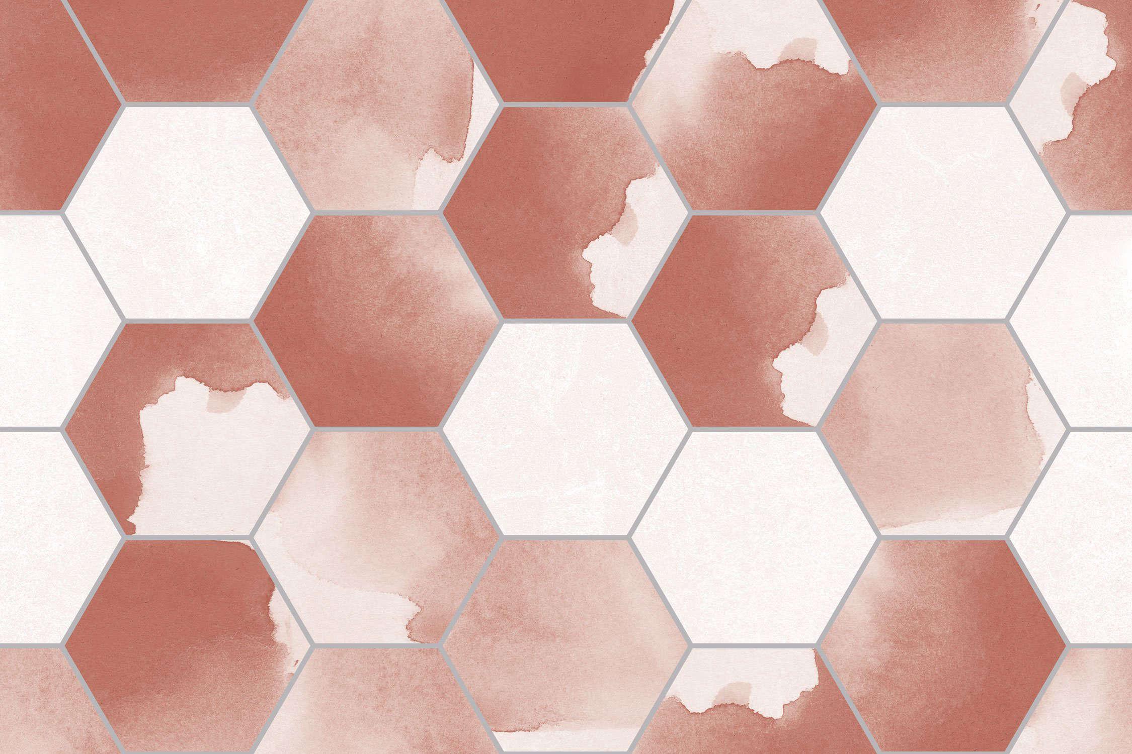 Pink sparkle floor tiles