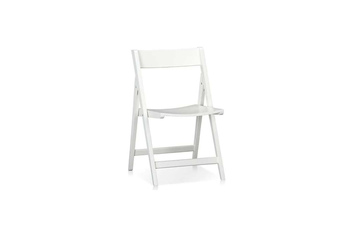 Made In Thailand, The Solid Rubberwood Spare White Folding Chair Is $49.95  From Crate U0026