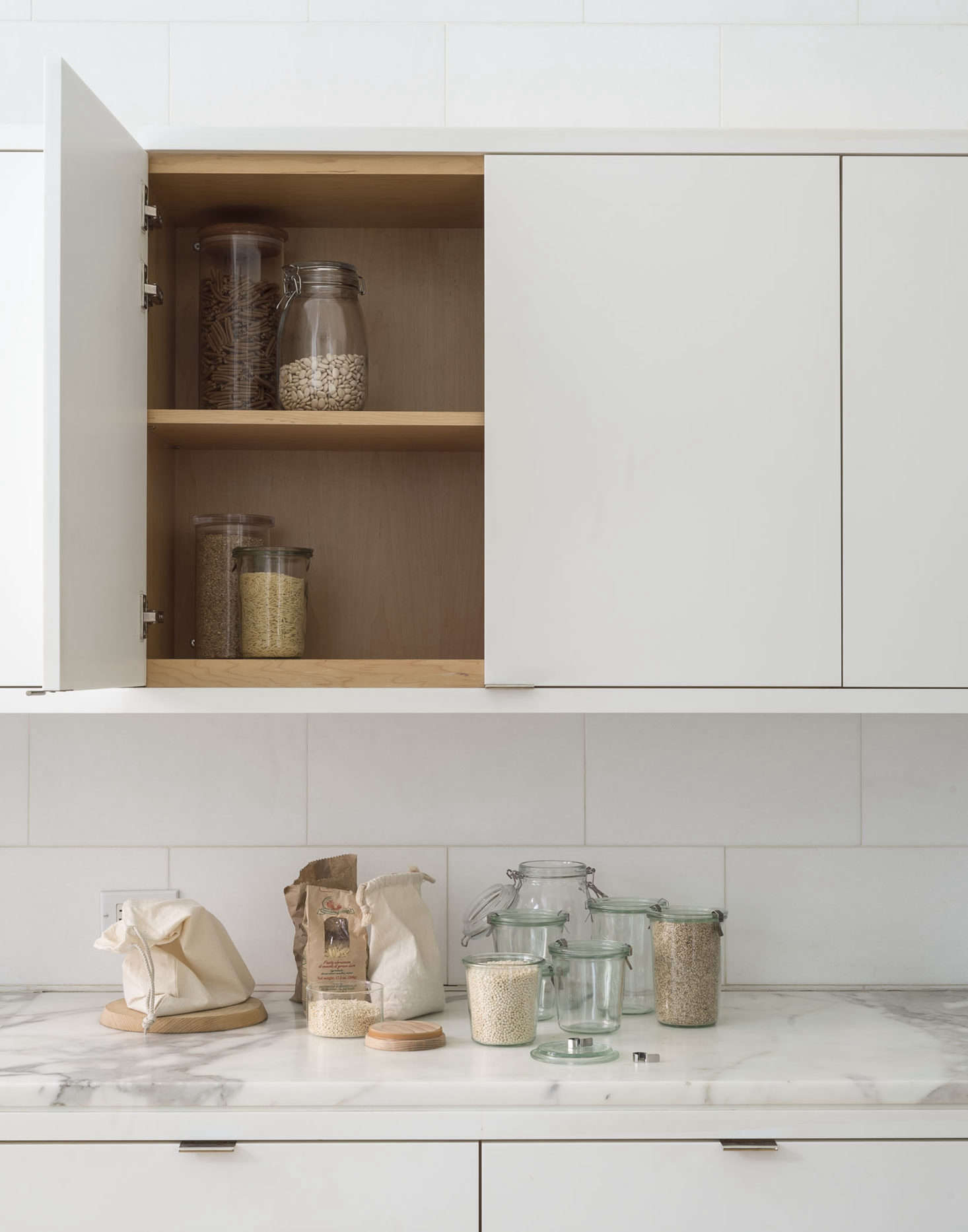 If you don't want moths or flour beetles (bookmark Annie's horrifying personal experience with the pests here), readThe Organized Pantry: 8 Rules for Decanting Dried Goods.Photograph byMatthew Williams; styling by Alexa Hotz for Remodelista: The Organized Home.