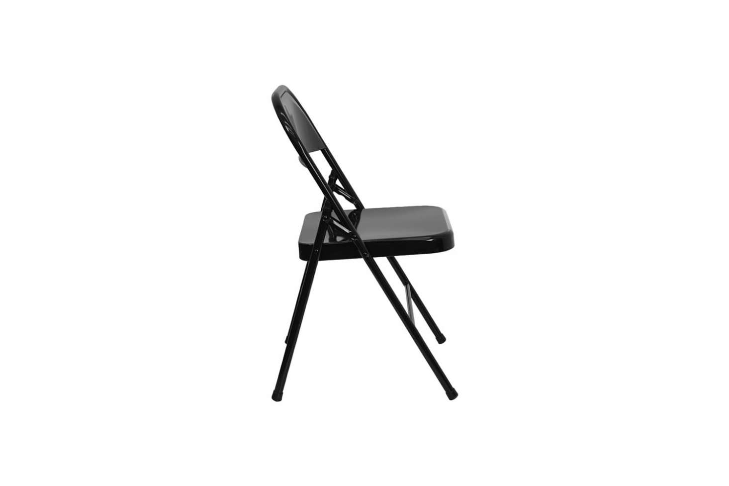 The Classic Hercules Black Metal Chair Is $11.49 At Folding Chairs 4 Less.